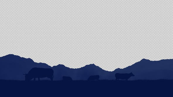 Cows 2D Nature Background