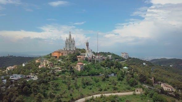 Thumbnail for Panorama of Barcelona  From Mount Tibidabo Catalonia Spain