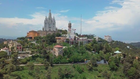 Thumbnail for Panorama of Barcelona  From Mount Tibidabo Catalonia, Spain