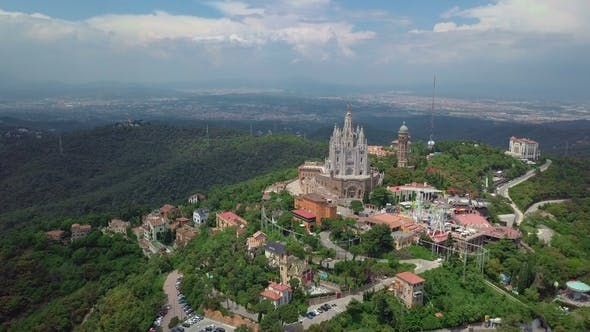 Thumbnail for Panorama of Barcelona  From Mount Tibidabo. Catalonia, Spain