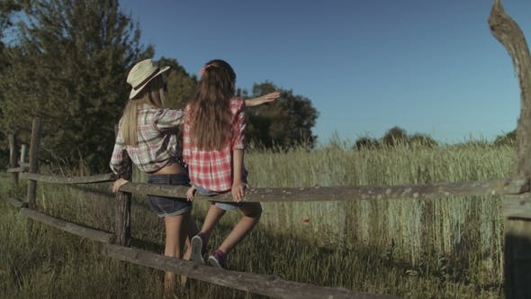 Thumbnail for Carefree Family Resting in Countryside at Sunset