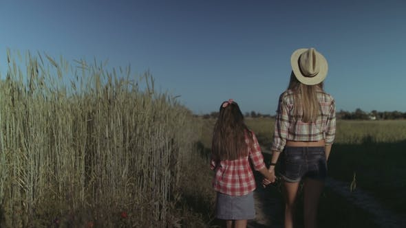 Thumbnail for Mother and Child Enjoying Nature in Countryside