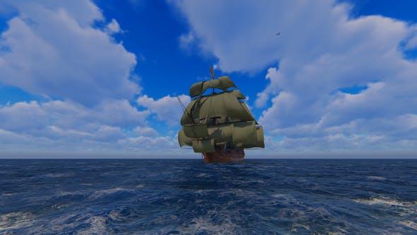 Thumbnail for Large Sailing Ship At Sea