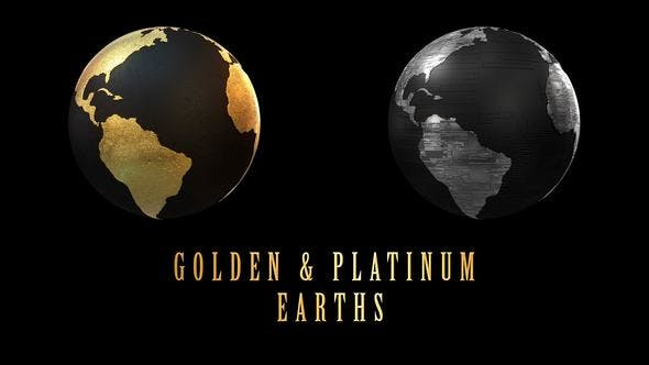 Thumbnail for Rotating Golden And Platinum Earths