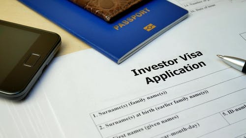 Investor Visa Document with Passport, Apply and Permission for Foreigner Country