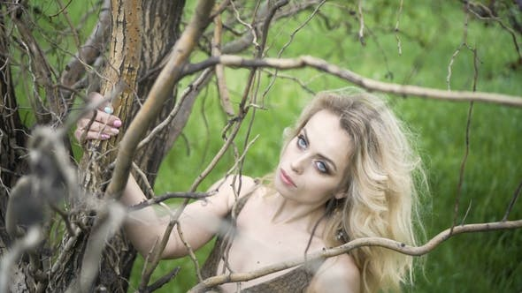 Thumbnail for Portrait of a Hippie Girl Style Fashion in a Forest