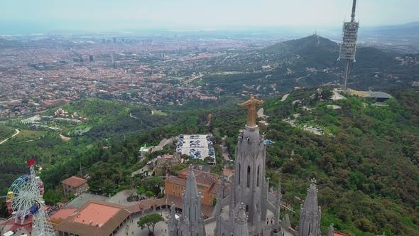 Thumbnail for A Magical View on Top of Mount Tibidabo and the Church That Stands on It