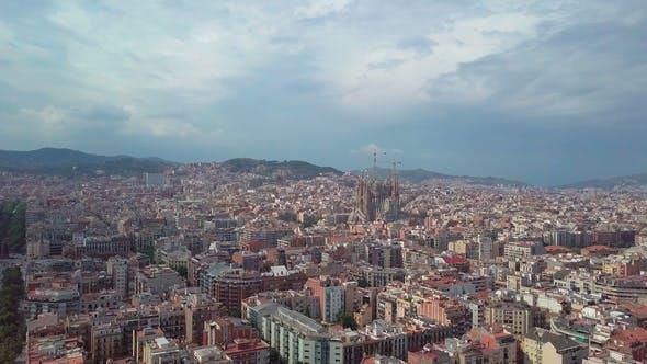 Aerial View Sagrada Familia Barcelona