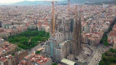 Barcelona City at Sagrada Familia Neighbourhood in Barcelona Spain