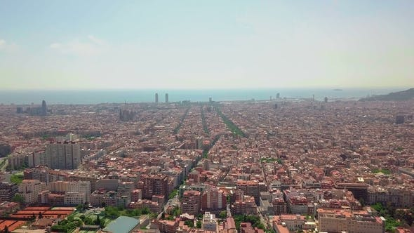 Thumbnail for Summer Day Barcelona Cityscape Spain