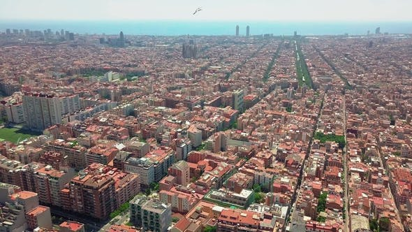 Aerial View Over Barcelona