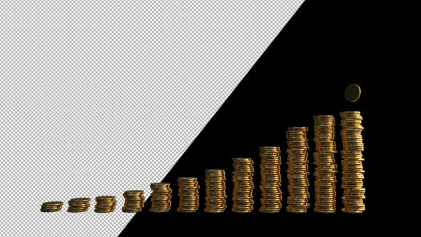 Thumbnail for Financial Infographic With Coins