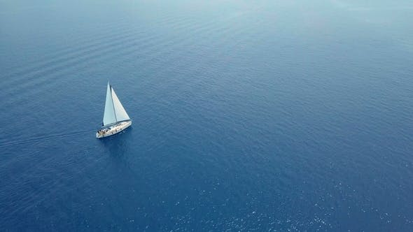Thumbnail for Yacht Sailing on Opened Sea