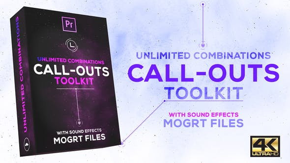 Cover Image for Call-Outs Tool Kit | MOGRT Files for Premiere Pro