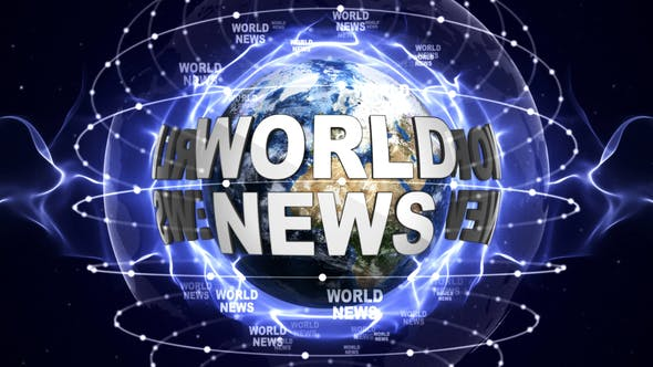 Thumbnail for World News Text Around the Earth