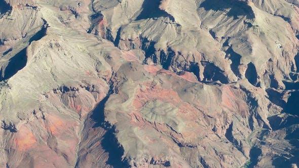 4K Grand Canyon Terrain Aerial View