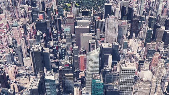 Thumbnail for 4K New York City Skyscrapers Aerial View
