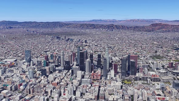 Thumbnail for 4K Los Angeles Downtown Aerial