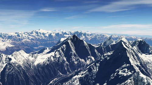 4K Nepal Snowy Mountains Aerial View