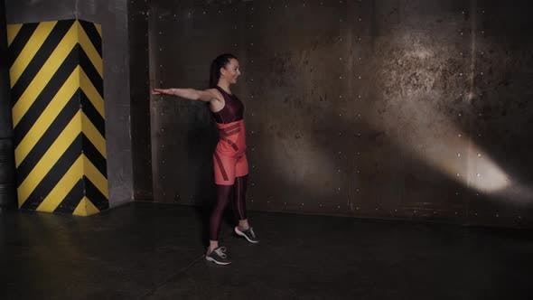 Thumbnail for Athletic Beautiful Woman Doing Exercises in the Gym