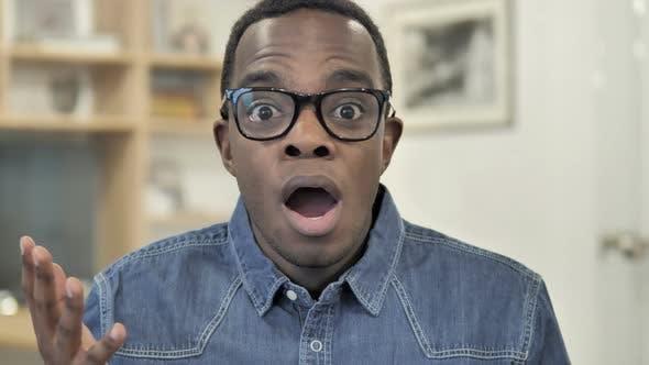 Shocked Afro-American Man