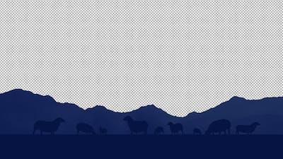 Sheeps 2D Background