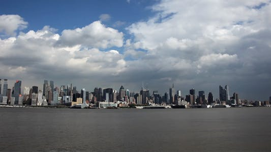 Thumbnail for New York City Time Lapse with Clouds Full HD