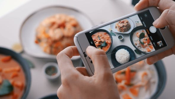 Thumbnail for Female Hands Take Photos of Food By Modern Smartphone