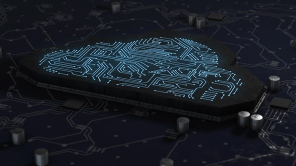 Artificial Intelligence & Digital  Network Connected Cloud in Printed Circuit Board