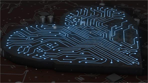 Thumbnail for Herzschild in komplexer Leiterplatte mit künstlicher Intelligenz