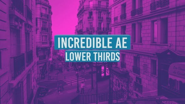 Thumbnail for Incredible AE Lower Thirds