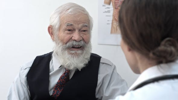 Thumbnail for Happy Senior Patient Talking To the Doctor