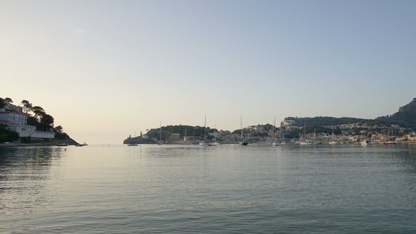 Thumbnail for of Sunset Over the Mediterranean Sea at Port De Soller on the Coast of Mallorca