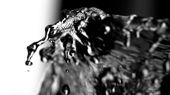 Thumbnail for Water Splash Isolated on Black and White Background, Beautiful Splashes a Clean Water