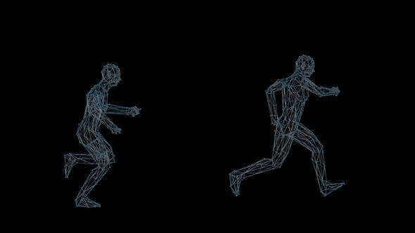 Thumbnail for 3D Wired Man Running