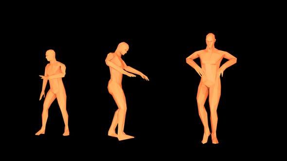 Dancing Orange Humanoid