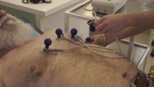Thumbnail for Doctor Prepare Old Man To Electrocardiography
