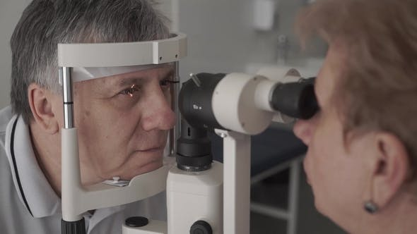 Thumbnail for Doctor Check the Eyesight of Adult Man with Modern Equipment