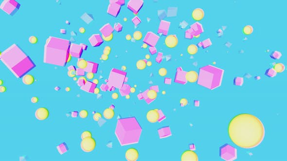 Thumbnail for Abstract Pop Geometric Background