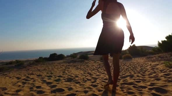 Cover Image for Walking On The Beach At Sunset