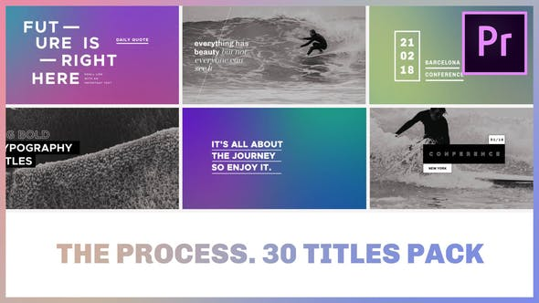 Cover Image for The Process / Titles Pack for Premiere Pro
