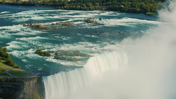 Thumbnail for The Niagara River and Niagara Falls.