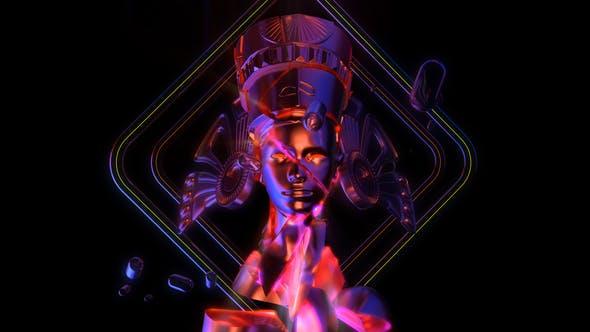 Thumbnail for Cracked Nefertiti Heads VJ Loop