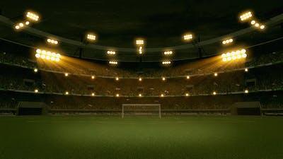Stadium with Crowd