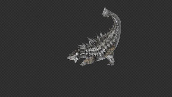 Ankylo Dinosaur Tail Pound Tail Sweep Walk 12 IN 1