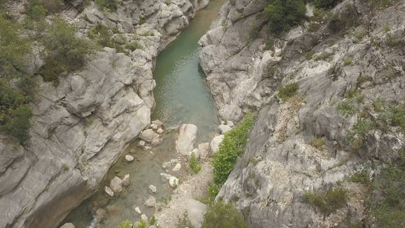 Thumbnail for Aerial Footage of the Mountain River