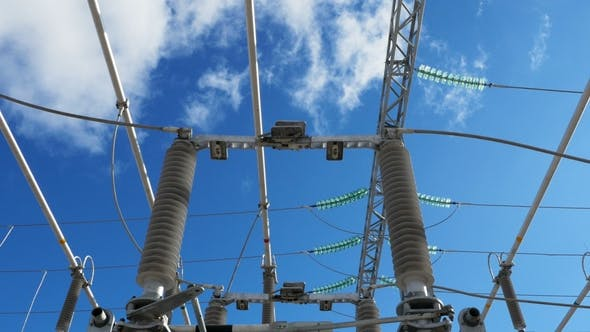 Thumbnail for Motion Back Under High Voltage Lines at Electric Station