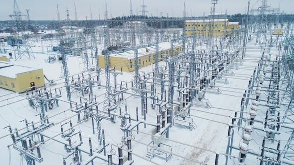 Thumbnail for Buildings Insulators and Switchgears at Substation