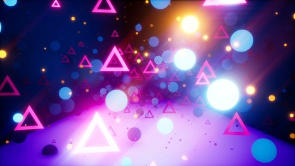Cover Image for Retro Neon Glow Background