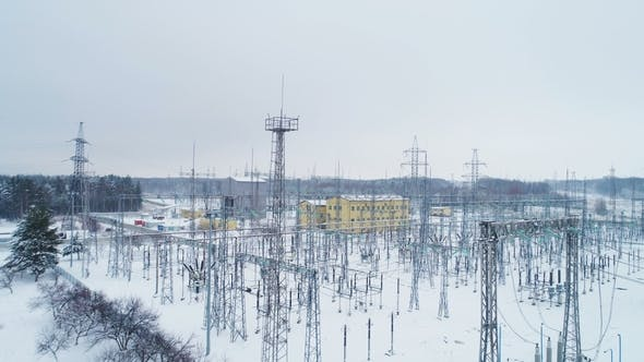 Thumbnail for Constructions and Supports with Electrical Wires at Distribution Substation